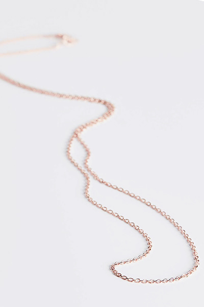 1mm Plain Silver Necklace