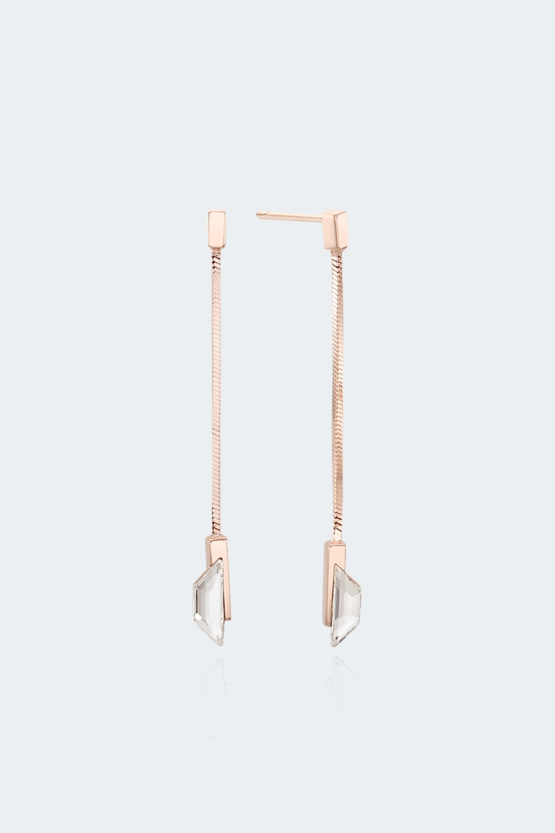 snake chain drops earring